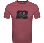 Product Image for CP Company Logo T Shirt Burgundy